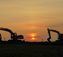 Diggers At Sunset by Fara