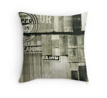 Tin Wall Throw Pillow