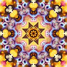 Decorative patterns and a star in a kaleidoscope by walstraasart