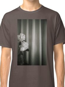 Analog silver gelatin 35mm film photo of white rose flowers in vase Classic T-Shirt