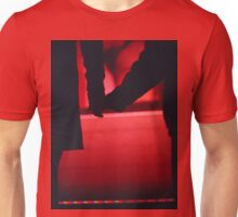Couple walking romantically hand in hand in silhouette analog photo Unisex T-Shirt