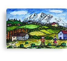 Heidi Country Canvas Print
