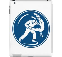 Judo Combatants Throw Circle Icon iPad Case/Skin
