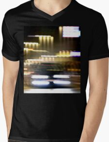 Car in street in urban city lights with distortion effect Mens V-Neck T-Shirt