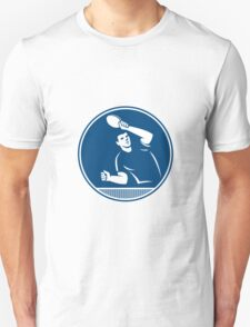 Table Tennis Player Serving Circle Icon T-Shirt
