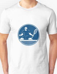 Tennis Player Racquet Fist Pump Icon T-Shirt