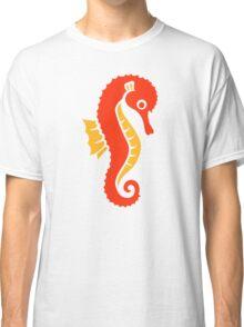 Cute orange seahorse Classic T-Shirt
