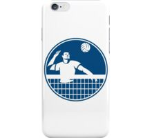 Volleyball Player Spiking Ball Circle Icon iPhone Case/Skin