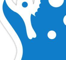 Seahorse bubbles Sticker