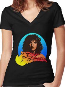 Peter Frampton Women's Fitted V-Neck T-Shirt