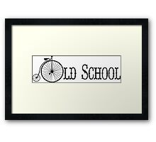 Old School Bicycle Framed Print