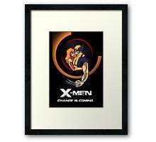 Bob Peak Inspired Xmen Poster Framed Print