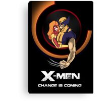Bob Peak Inspired Xmen Poster Canvas Print
