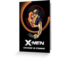 Bob Peak Inspired Xmen Poster Greeting Card