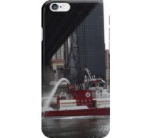 Fire Department New York Fire Boat, East River, 59th Street Bridge, New York City iPhone Case/Skin