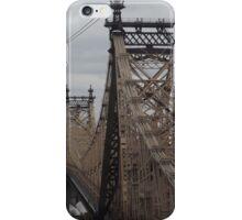 Aerial View of 59th Street Bridge, Seen from Roosevelt Island Tram, New York City  iPhone Case/Skin