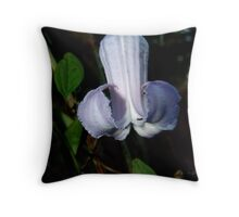 Pine Hyacinth  (Clematis baldwinii ) Throw Pillow