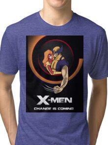 Bob Peak Inspired Xmen Poster Tri-blend T-Shirt