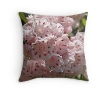 Mountain Laurel  (Kalmia latifolia) Throw Pillow