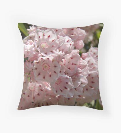 Mountain Laurel  (Kalmia latifolia) Throw Pillow