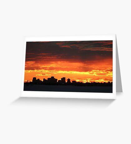 Edmonton evening City view  Greeting Card