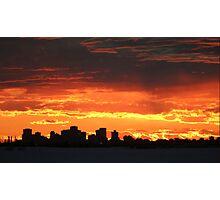 Edmonton evening City view  Photographic Print