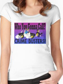 Crime Busters Women's Fitted Scoop T-Shirt