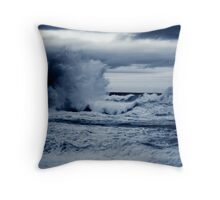 Unsettled Seas Throw Pillow