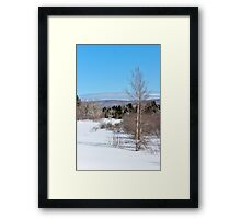 Spring is a Long Way Off Framed Print