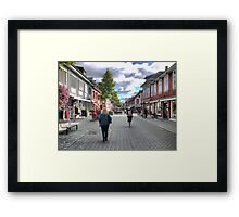 The Red Head in the Shopping Mall Framed Print