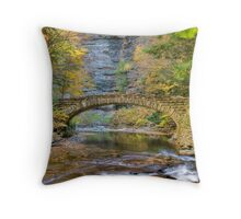 Surreal stone bridge Throw Pillow
