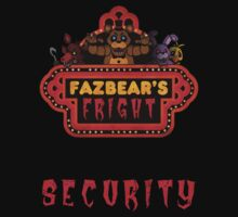 Five Nights at Freddy's Fazbear's Fright Security Kids Clothes