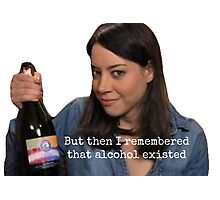 PARKS AND REC APRIL LUDGATE ON ALCOHOL Photographic Print