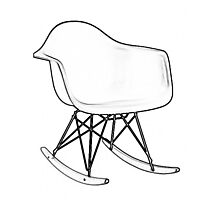 Eames Rocking Chair Photographic Print