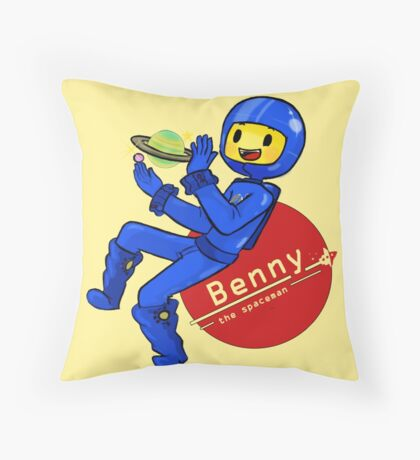 Benny the Spaceman Throw Pillow
