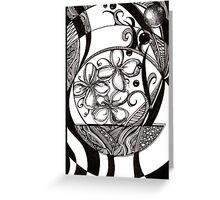 Landscape in Black and White Greeting Card