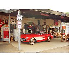 Route 66 Corvette Photographic Print