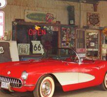 Route 66 Corvette Sticker