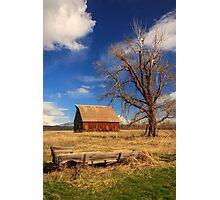 Old Barn And Wagon Photographic Print