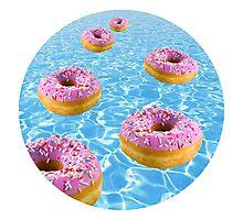 Donut Float Photographic Print