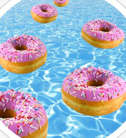 Donut Float Sticker