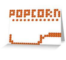 Bubble Bobble Popcorn Greeting Card