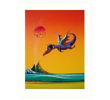 Ignatius the Fire Dragon Art Print
