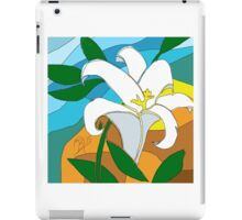 Stained glass Lily done in sketch club iPad Case/Skin