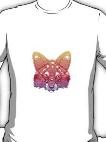Rainbow Fox - Zentangle Inspired - Super Vibrant T-Shirt