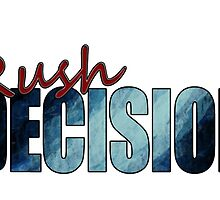 Rush Decision Deep Rush Blue by zysis