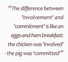 Eggs-and-ham: involvement-and-commitment... (Amazing Sayings) Kids Clothes