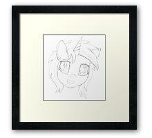 Vinyl Scratch sketch - Design 1 - Framed Print