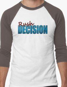 Rush Decision Blue Paper Men's Baseball ¾ T-Shirt