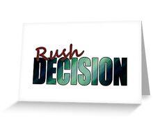 Rush Decision Deep Ocean Greeting Card